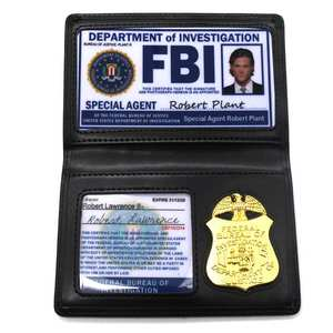 FBI Badge Card-Holder Id-Cards Supernatural Dean Police Cosplay Winchester Sam Role-Playing-Props