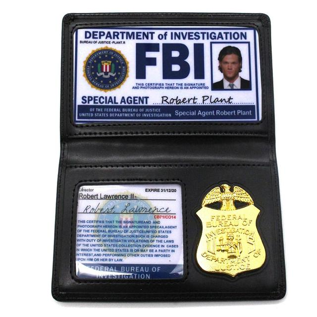 Hot Sale Role Playing Props Supernatural Dean Sam Winchester FBI Badge Card Holder Police ID Cards Cosplay New Arrival | Pretend Play