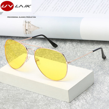 2521943f3ba0b UVLAIK Aviation Night Vision Polarized Sunglasses Men Women Goggles Glasses  UV400 Sun Glasses Driver Night Driving Eyewear