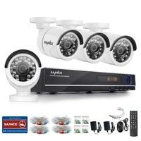 SANNCE Home Security HD 1080N 8CH DVR 4PCS 720P IR CUT AHD High Resolution CCTV Camera