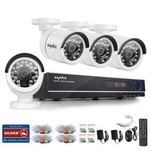 Sannce 8CH системы видеонаблюдения HD 1080N AHD DVR 4 шт. 720 P ИК наружного видеонаблюдения Система 8-канальный комплект видеонаблюдения