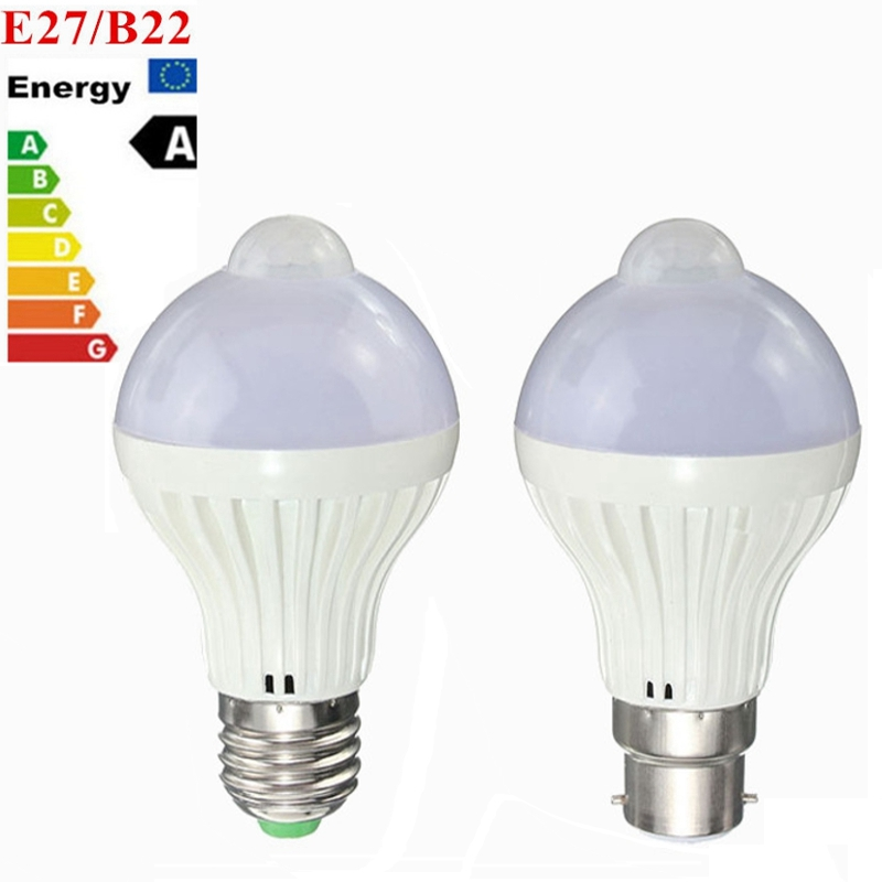 Best Price E27 B22 5W 7W 5730 SMD Auto PIR Motion Sensor LED Infrared Energy Saving Light Bulb Pure Warm White AC85-265V b22 5 7 9w 5730 smd auto smart motion pir infrared sensor body lamp detection led light lamp bulb pure warm white 85 265v