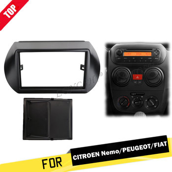 2 Din Radio Fascia for Citroen Nemo Peugeot Bipper Fiat Fiorino Qubo 2008+ GPS Navigation DVD Audio Dash Mount Trim Kit Frame 2d