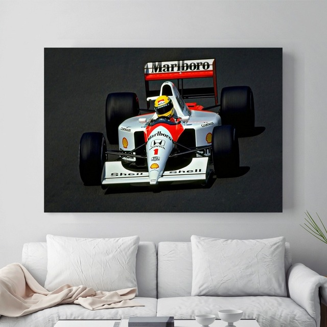 F1 Race Car Canvas Art Print Painting Poster Wall Picture For Living ...