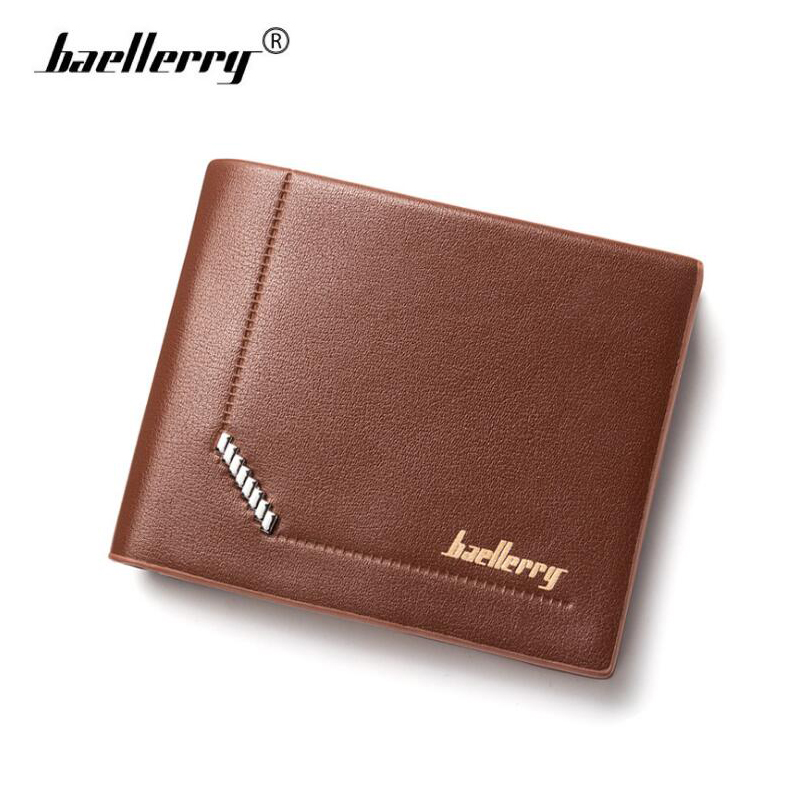 Baellerry Small Leather Men Wallets Luxury Brand Wallet Minimalist Short Slim Purses Card Holder Male Purse carteira masculina