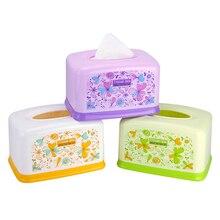 HS040 Fashion flower rectangular plastic tissue box 17*12*9cm Free shipping