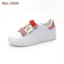 ALL YIXIE 2019 New Fashion White Shoes Female Summer Casual Breathable Comfortable Flat Bottom Ladies Sneakers Student