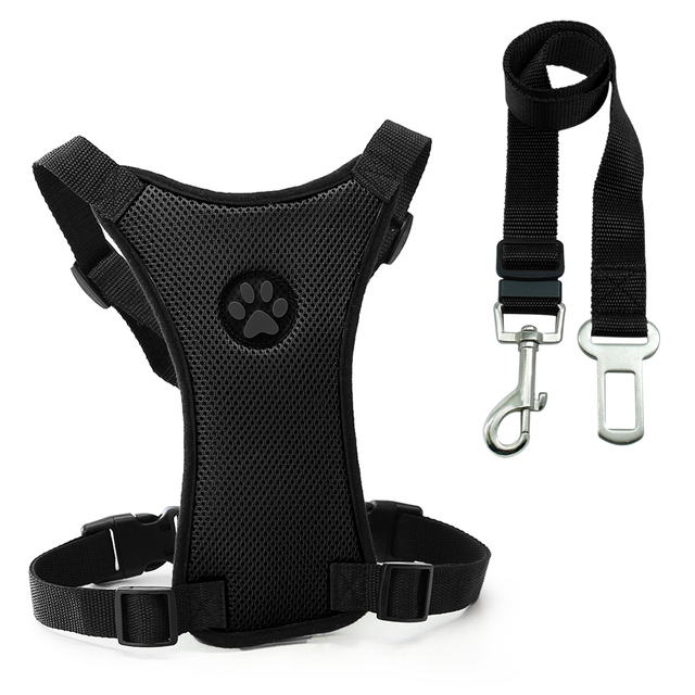 Cane di sicurezza Auto Cintura di Sicurezza Pet Dog Harness e Guinzaglio Set Reg