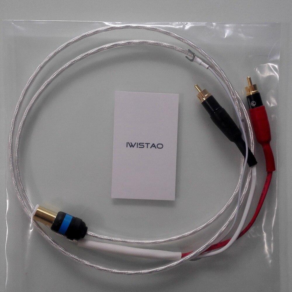 LP Plattenspieler Signal Kabel 5 Pin Din stecker Tonarm Kabel silber ...