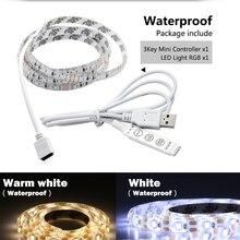 5V USB LED Strip Light strip RGB Changeable TV Background Lighting 1M 2M 5v Flexible Set Low Voltage