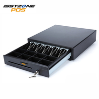 ISSYZONEPOS Metal Cash Register Drawer POS Cash Drawer 8 grids 4 section of the cashbox with RJ11/RJ12/USB interface IPCD011