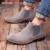 Moda británica Botas Chelsea Hilo de Coser Cuero de vaca Suede Hombres Botines chaussure femme kanye Más Tamaño más 37-45