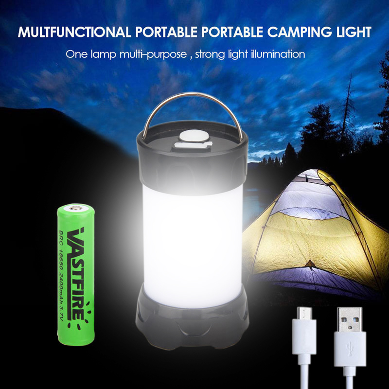 10W LED Camping Lampe Wasserdichte USB Tragbare Beleuchtung Laterne Outdoorlampe