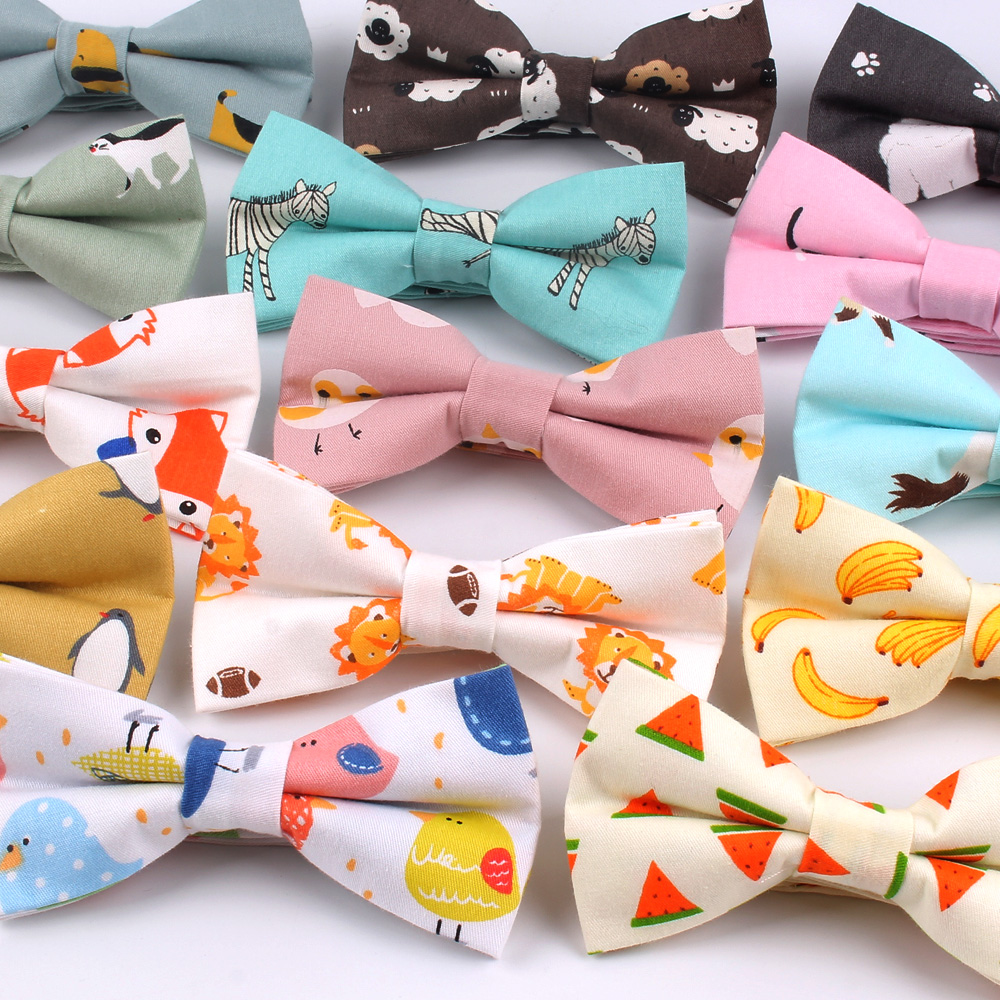 Cotton Men Animal Bowtie Casual Shirts Bow Tie For Men Women Bowknot Adult Print Cartoon Bow Ties Cravats Wedding Bowties