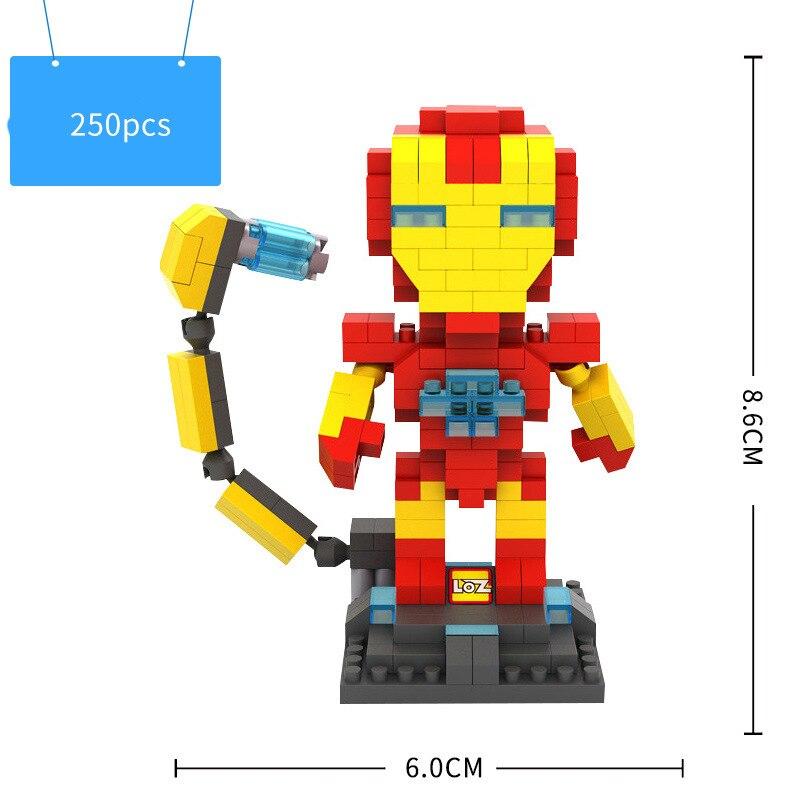 LOZ Mini Box Avengers Alliance Guerra Infinita Hawkeye Capitán - Juguetes de construcción - foto 2
