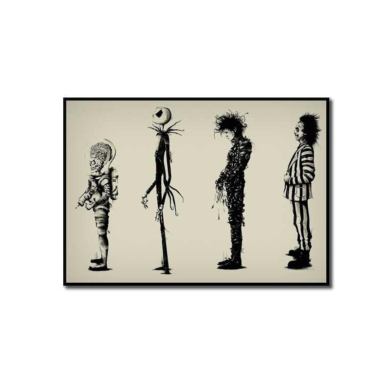 Home Decr Painting Tim Burton Movie Beetlejuice Edward Scissorhands Movie Poster Hd Print Poster Wall Art Pictures Aliexpress