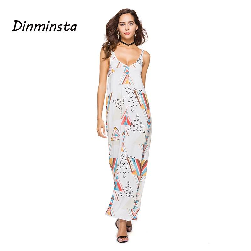 Dinminsta Summer Women Sexy Boho Dresses Beach Long Maxi Dreess Backless Spaghetti Strap African Kitenge Dress Designs 2019 Dresses Aliexpress