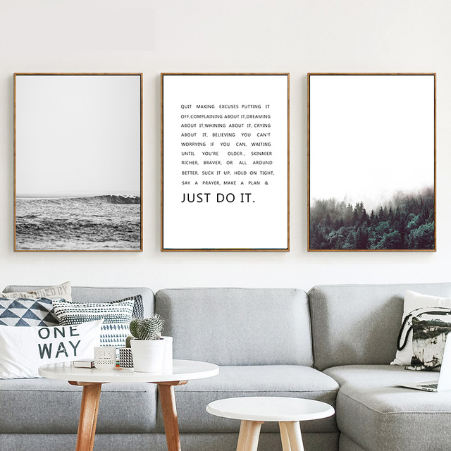 Nordic Home Decoration Forest Sea Motivational Posters