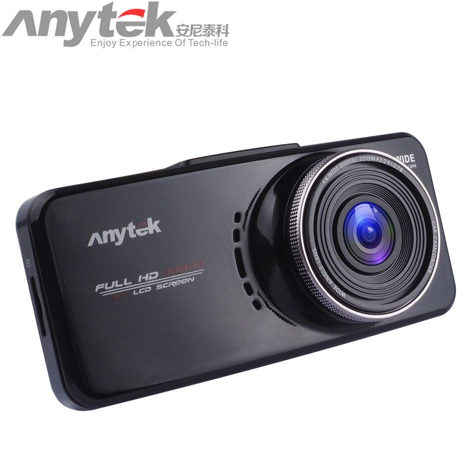 Original anytek AT66A HD Novatek 96650 Cámara del coche DVR caja negro 170 grados Super Night Vision Dash cam envío Gratis