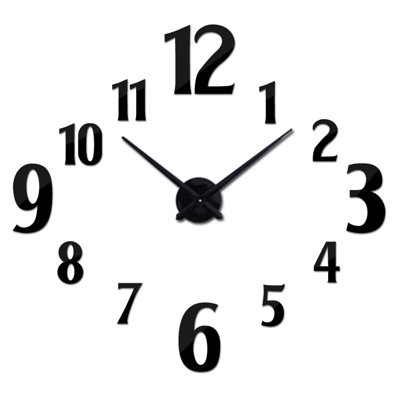new acrylic wall clock modern design reloj de pared quartz watch - Home Decor