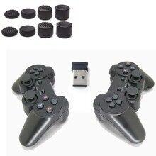 2.4 גרם USB אלחוטי כפול משחקי רטט Gamepad בקר ג ויסטיק 3D אנלוגי מקל עבור מחשב נייד מחברת W7/W8 וכו 2 יח\חבילה