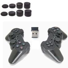 2.4g usb sem fio dupla jogos de vibração gamepad controlador joystick 3d analógico vara para computador portátil notebook w7/w8 etc pçs/lote