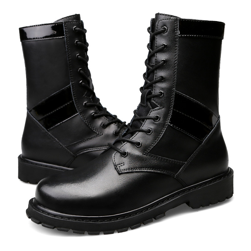 British wind Martin boots, leather boots, military boots and Korean version of the tide men's high boots waterproof boots short boots woman the fall of 2017 a new restoring ancient ways british wind thick boots bottom students with martin boots
