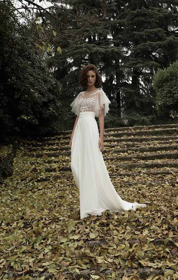 Boho bridal gown 2018 Simple Chiffon Beach Vestido De Noiva Open Back Short Sleeves robe de mariee   bridesmaid     dresses