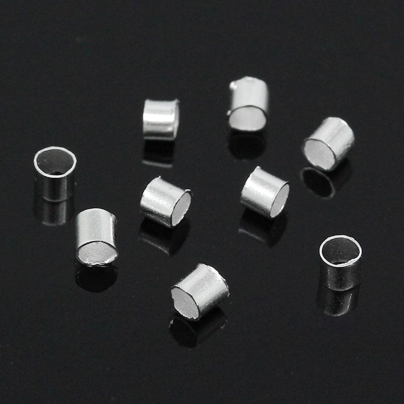 цена на Alloy Crimp Beads Round Silver Plated 1.5mm 2mm( 1/8) Dia, 400 PCs