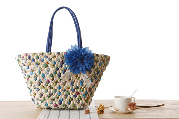 Woven Beach Bags Women Large Straw Handbags Summer Fashion Zipper 17 Bolsa Feminina Flower Ladies Hand Bags Female New Arrival 4
