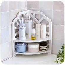 2015 Hot Sale Simple Water Cube Save Space Corner Commodity Shelf Green Wood Plastic Plate Kitchen Bathroom Storage Shelf