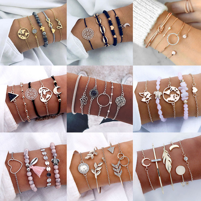 AILEND Bohemian Turtle Bracelet Women Fashion Simulation Pearl Multilayer Bracelet DIY Handmade Jewelry Gifts