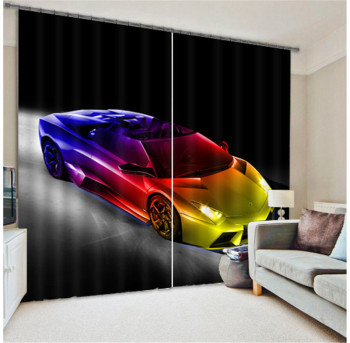 Luxury car 3D Blackout Window Curtains For Living room Bedding room Hotel/Office Curtain Drapes Cortinas para sala
