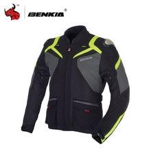 BENKIA Motorcycle Racing Spring Summer Detachable Windproof Liner Protecciones Motocross Motorcycle Hoodie Motorbike Jacket