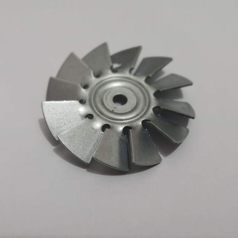 Indutrial By Pass Vacuum Cleaner Parts 9-blade Iron Fan Blade 62mm Diameter With 5.7mm Hole