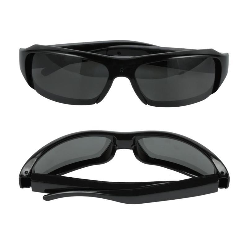 Nova Wearable Câmera HD 1080 P Óculos Filmadora lente Grande Angular de Webcams Esporte óculos de Sol Vidicon Câmera de Vídeo e Gravação de Voz