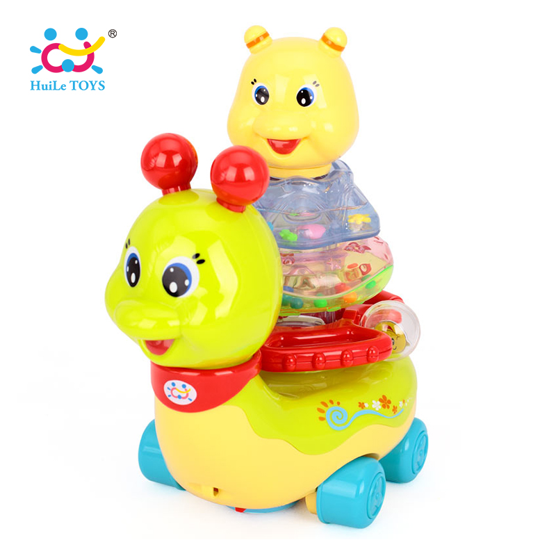 Children's Educativos Toys Action Brinquedos Bebe Chocalho Baby Rattles with music/light Free Shipping 576 Flashing Snail Toys стоимость
