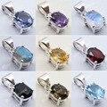 IOLITE prata & Outros 9 Pedra Variação Escolher Leve 4 Prong Pingente