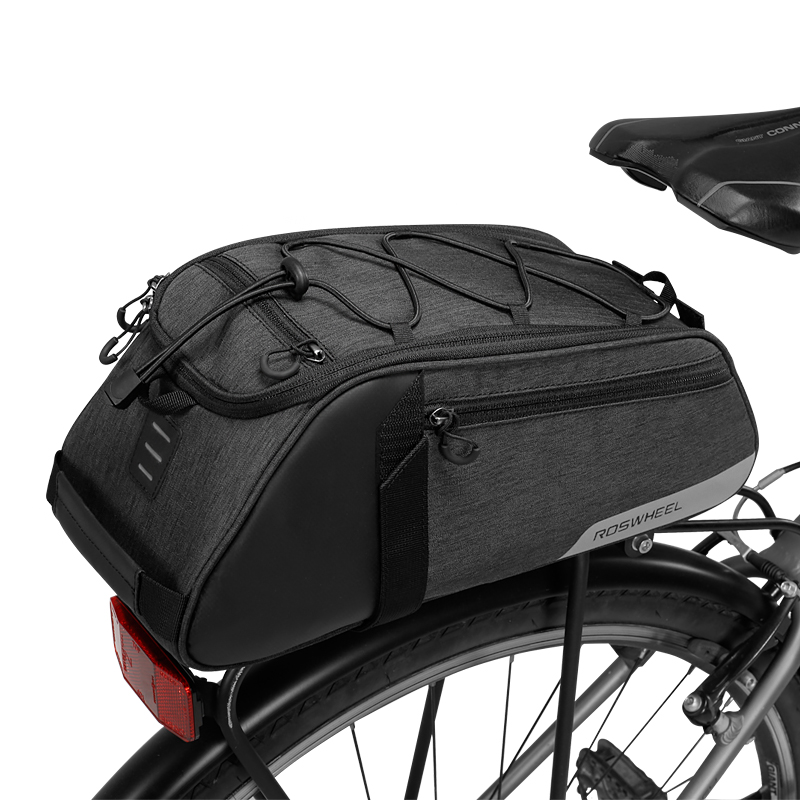 10L ROSWHEEL 141466 Mountain Road Bike Bicycle Cycling Rear Seat Rack Trunk Bag Pack Pannier Carrier Shoulder Bag Handbag roswheel 14892 mountain road bicycle bike 3 in 1 trunk bags cycling double side rear rack tail seat pannier pack luggage carrier