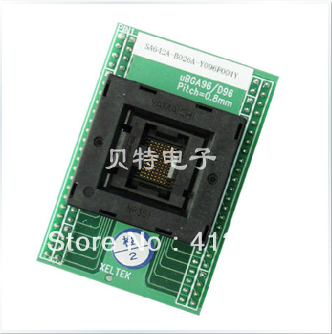 SA642A-B026A block conversion adapter burn test, 0.8mm original plcc44 to dip40 block adapter block cnv plcc mpu51 test convert burn