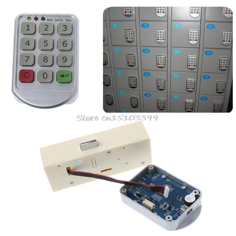 electronic digital password lock password keypad number for cabinet door drawer code locks. Black Bedroom Furniture Sets. Home Design Ideas