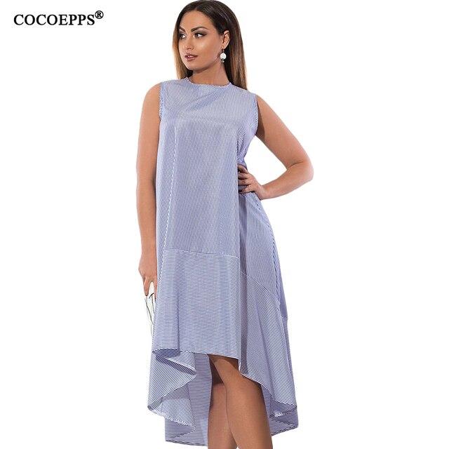 78f0868e9ced COCOEPPS Verão Nova Straped Vestido Das Mulheres 2019 Moda Plus Size  Feminina Tamanho Grande Vestidos Longos