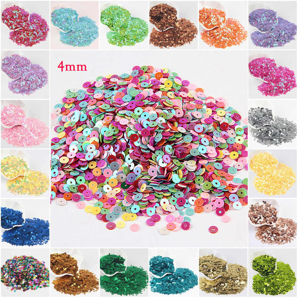 Paillette 3mm 4mm Sequin 6mm 5mm Flat Round PVC Loose Sequins for Crafts Sewing Decoration DIY Accessory Lentejuelas