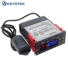 STC 3028 KT100 Dual Digitale Temperatuur Vochtigheid Controller Thermostaat Relais Direct Thermometer Hygrometer Reguylator