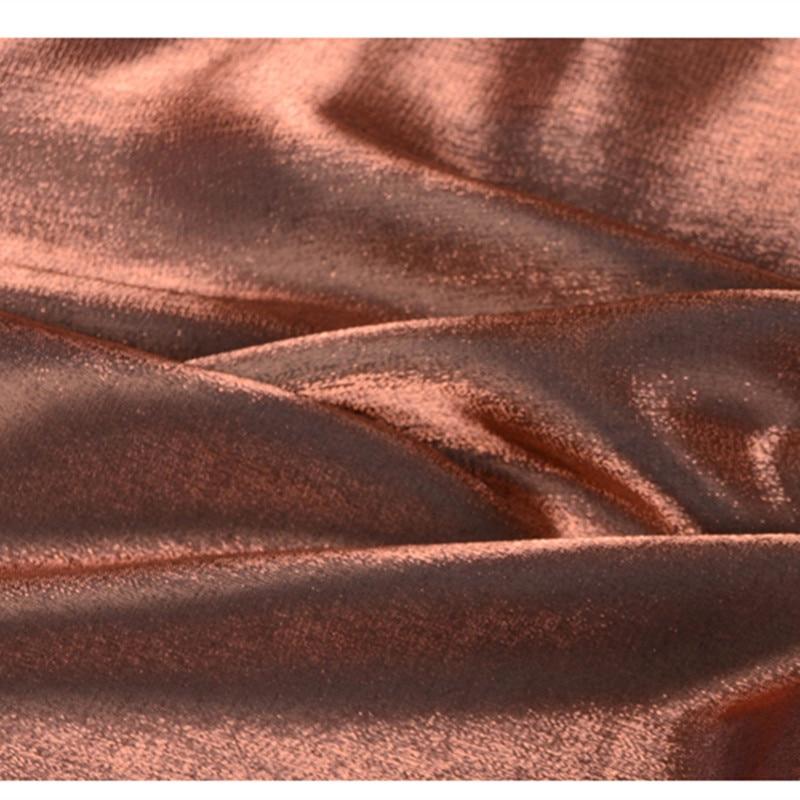 CF471 1m Changeable Metallic Bronze Tencel Cotton Fabric Imported Coloured Glaze Silk Satin Fashion Women Formal Dress Fabrics
