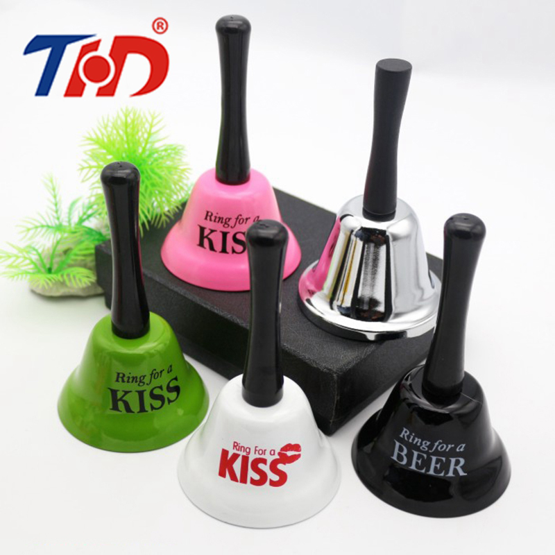THD Colorful Hand Christmas Bells Key Desk Kitchen Hotel Counter Reception Noble Restaurant Dinner Bar Decor Party Waiter Servie