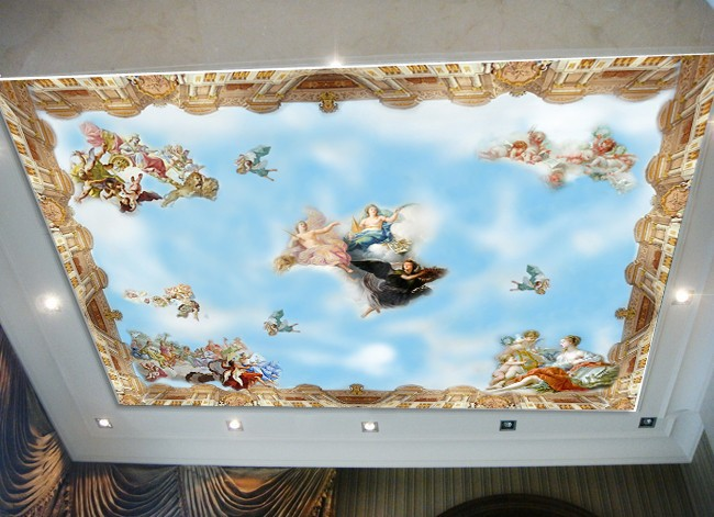 Online buy wholesale sky angel blue from china sky angel for Angel wall mural