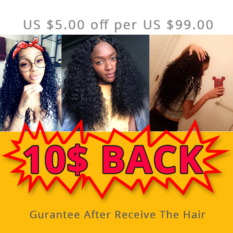 Aliafee Hair 4 Bundles Deal Deep Wave Brazilian Hair Weave Bundles - Mänskligt hår (svart) - Foto 2