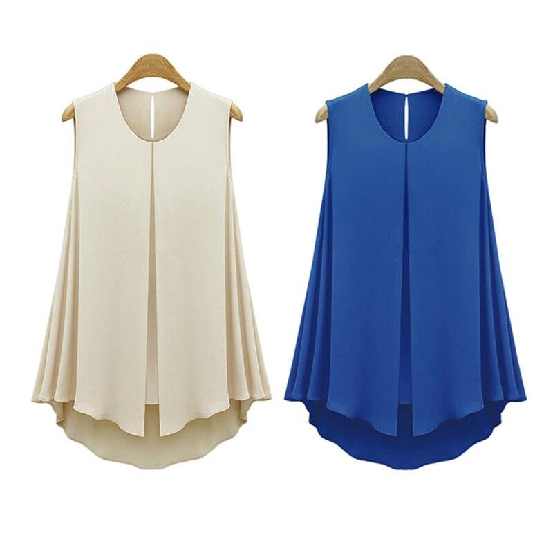 HTB1lSJfKFXXXXXnaXXXq6xXFXXXr - Summer Shirts Plus Size Ruffles Tops Sleeveless O-neck