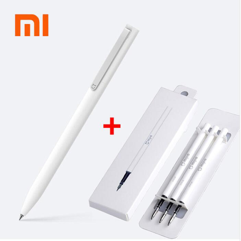Original Xiaomi Mijia Sign Pens 9.5mm Signing Pens PREMEC Smooth Switzerland Refill MiKuni Japan Ink add Mijia Pens Black Refill 2017 original xiaomi mijia pen mi pen 9 5mm xiaomi signing pen premec smooth switzerland refill mikuni